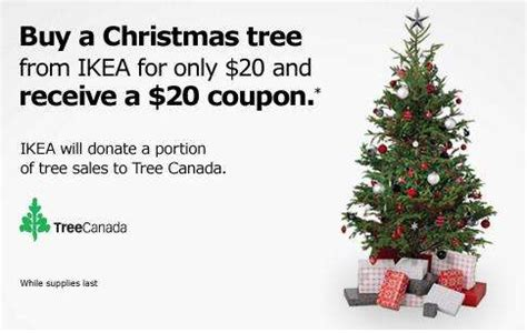 ikea buy a christmas tree for 20 get a 20 coupon
