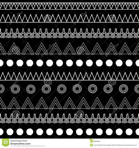 easy tribal pattern black and white b w tribal royalty free stock photo image 32800245