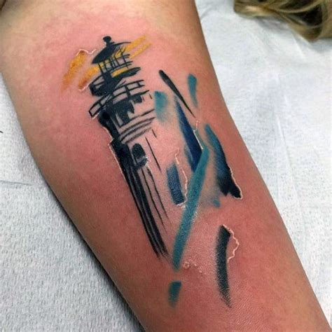 small lighthouse tattoos 100 lighthouse designs for a beacon of ideas