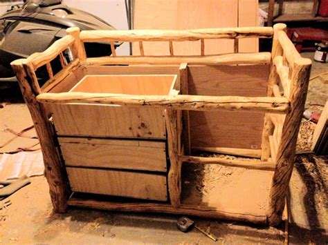 building a changing table building a log changing table using genuine alaskan logs