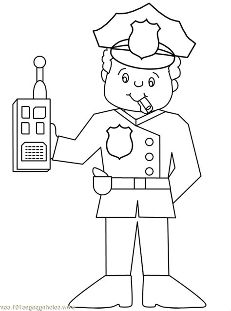 police officer coloring pages for kids az coloring pages