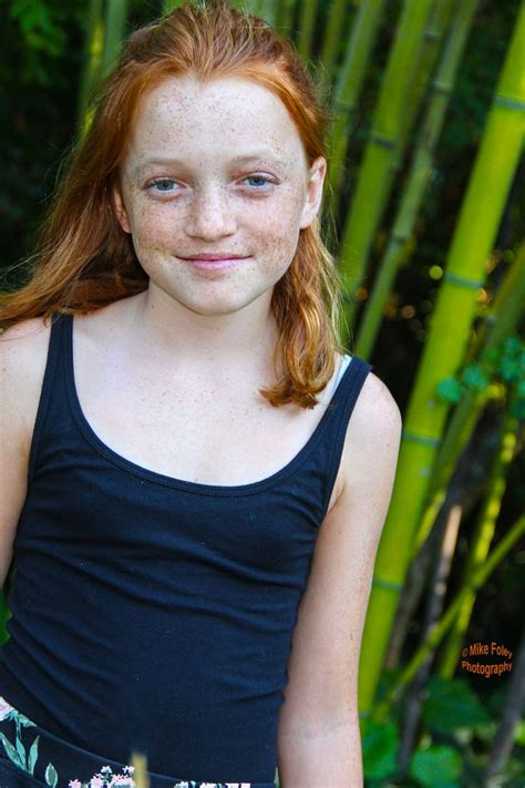preteen red head ginger hair pre teen young girl with lots of freckels