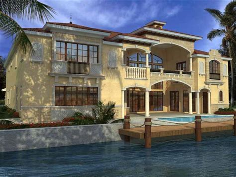 Two Story Florida House Plans by Italian House Plan 7 Bedrooms 8 Bath 7883 Sq Ft Plan