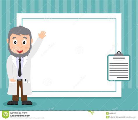 Illustrasi Frame white doctor horizontal photo frame stock vector