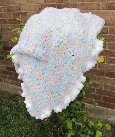 pattern for pipsqueak yarn tricialynne s finished contented baby blankie using