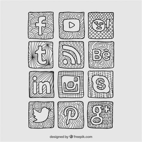 imagenes de redes sociales blanco y negro sketchy ic 244 nes de r 233 seaux sociaux t 233 l 233 charger des