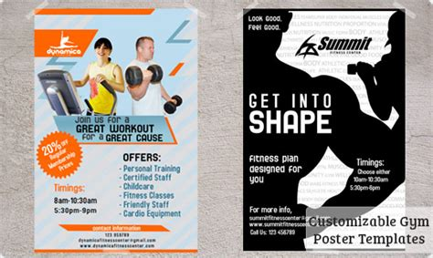 Postermywall Fitness Posters Templates Printing And Free Downloads Fitness Poster Template Free
