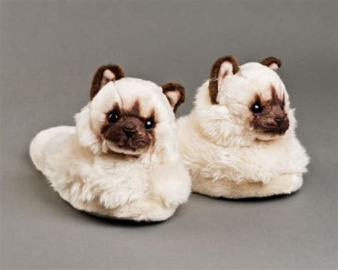 cat slippers for adults himalayan cat slippers cat slippers hair