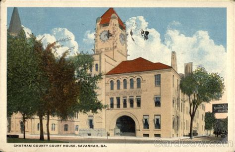 Chatham County Court Records Chatham County Court House Ga Postcard
