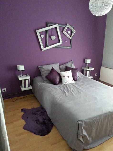 chambre a coucher violet et gris d 233 co chambre violet gris