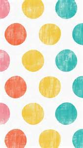 colorful dots iphone 5 wallpaper polka dots pink orange yellow
