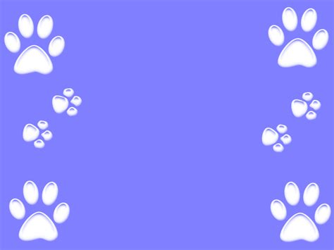 Dog Paws Wallpaper Wallpapersafari Paw Print Powerpoint Template