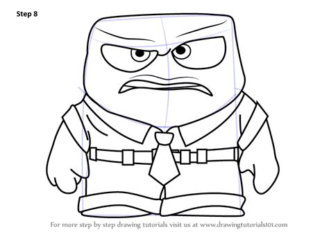 anger angry coloring page free inside out coloring pages learn how to draw anger from inside out inside out step