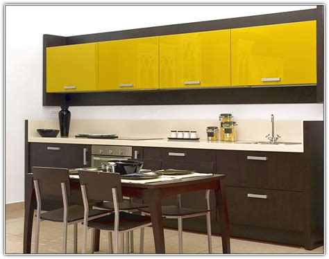 back painted glass kitchen cabinet doors modular kitchen dyhome