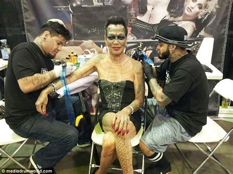 tattoo expo nyc 2016 transgender woman eva tiamat medusa removes ears and nose