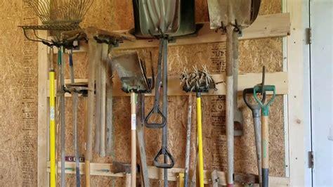 shovel and rake storage cabinet cheap shovel broom rake storage organizer youtube