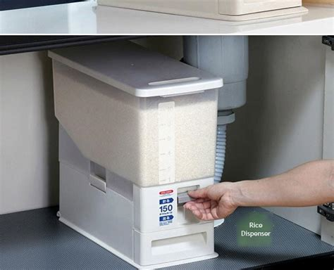 Dispenser Rice buy japanese automatic rice dispenser storage deals for