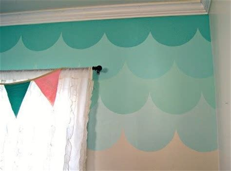 ombre walls tutorial ombre scallop accent wall tutorial 183 how to make wallpaper