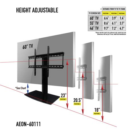 height to place tv on wall universal tabletop tv stand swivel height adjustment