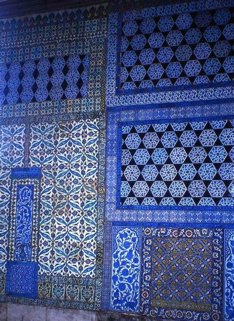 islamic pattern necktie islamic tiles topkapi palace turkey print