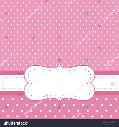 Pink Baby Shower Background by Pink Vector Invitation Card Baby Shower Stock Vector