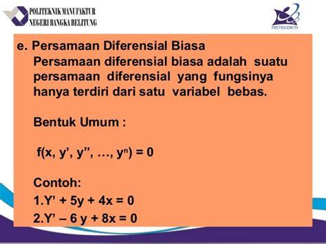 Persamaan Diferensial Biasa pt 1 p difflinier rev