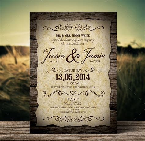 Wedding Announcement Vintage by 20 Second Marriage Wedding Invitation Templates Free