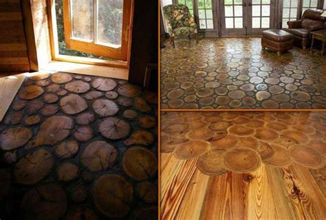 log floor 40 diy log ideas take rustic decor to your home amazing