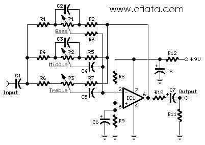 Ic Op Ad827 Ad827jn Ad827jnz tone module circuit diagram using ic1 tl061 low