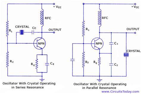 resistor parallel oscillator oscillator electronic circuits and diagrams