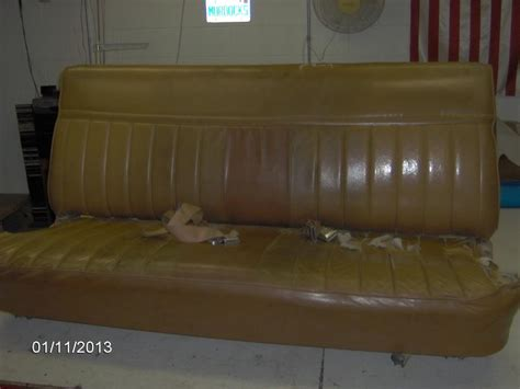 reupholster truck bench seat reupholstering a bench seat picture heavy gm square