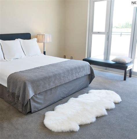 schlafzimmer teppichboden luxe steel grey premium sheepskin rug in 6 sizes