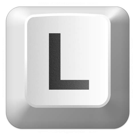 Keyboard L by Iconexperience 187 V Collection 187 Keyboard Key L Icon