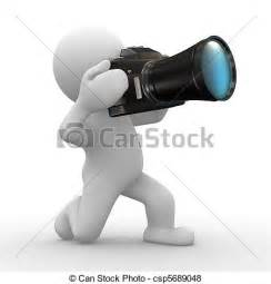 how to take a 3d photo stock illustration of big camera 3d human try to take a