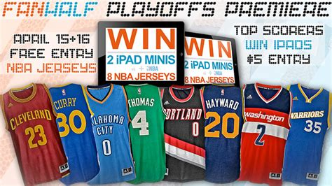 Warriors Playoff Giveaways - giveaway 2 ipads and 8 nba jerseys