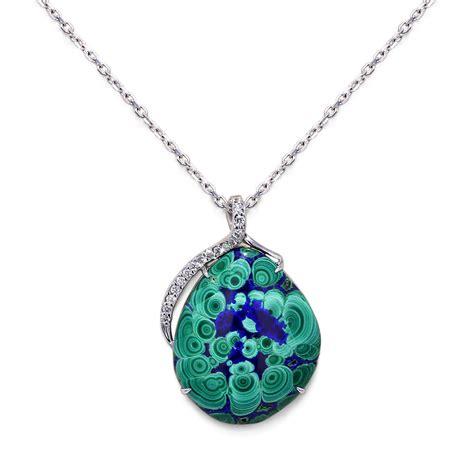 www jewelry malachite azurite necklace jewelry designs