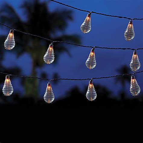 vintage bulb string lights vintage 10 bulb string lights in clear bed bath beyond