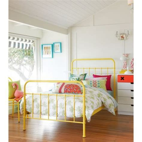 yellow bed frame sunday yellow bed frame domayne store
