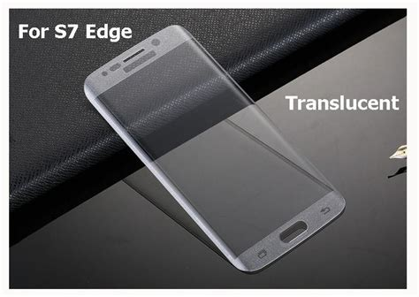 Paket Anti Soft Tempered Glass Samsung S7 Edge S7 cover curved 3d tempered glass for samsung galaxy s7 s7 edge screen protector soft clear