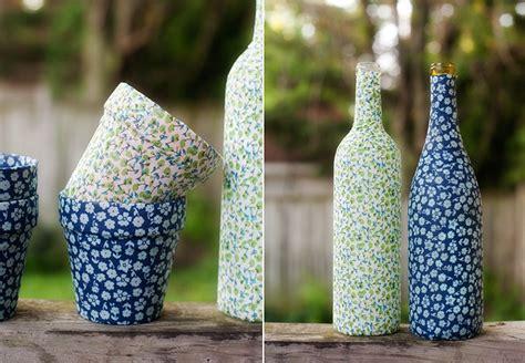 Wine Bottle Flower Vase Mod Podge Vases And Flower Pots Pretty Plain Janes