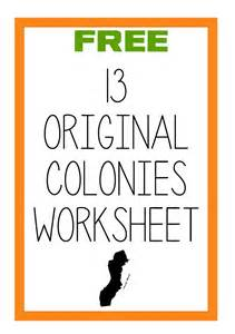 free original 13 colonies labeling worksheet blessed