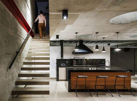 residence   concrete glass wood  steel
