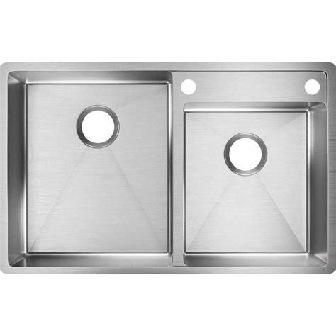 double sink drain kit home depot elkay crosstown water deck undermount stainless steel 33