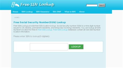 Free Ssn Lookup Freessnlookup Free Social Security Number Ss Free Ssn Lookup