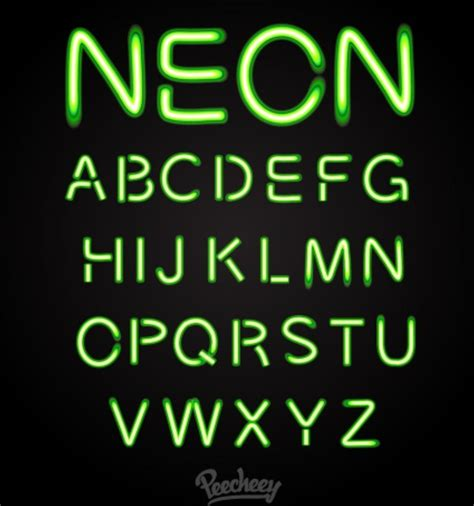 font neon green neon font free vector in adobe illustrator ai ai