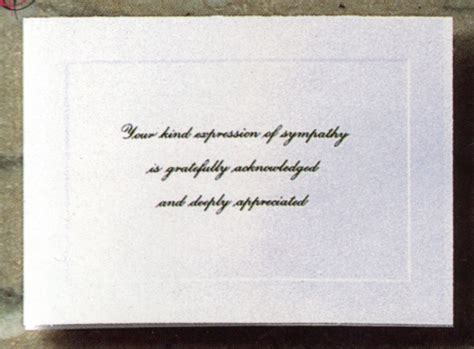 Funeral Acknowledgement Cards Template by Designs Of Dallas Acknowledgement Cards Wholesalers To