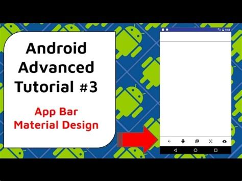 tutorial material design android designing toolbars app bar material design android
