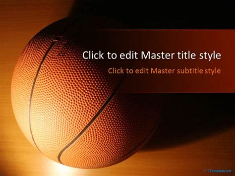 powerpoint presentation themes basketball free basketball ppt template