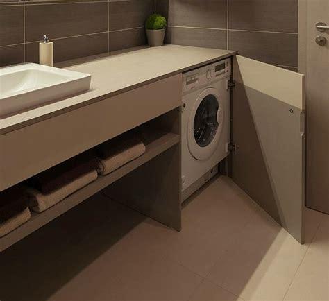 nascosta bagno mobile bagno con lavatrice sotto piano nascosta da anta a