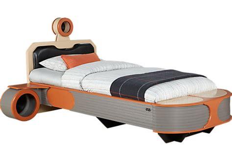 bed star star wars landspeeder orange 5 pc twin panel bed with